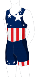 Flag Sublimated Tank Speedsuit